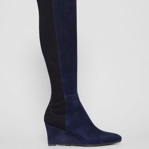 EUC Stuart Weitzman Blue Suede Knee high boots